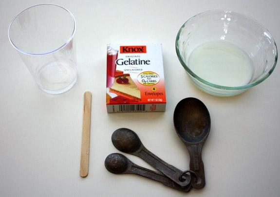 ингредиенты для желатиновой маски