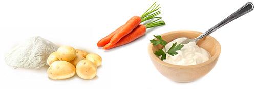 крахмал и морковь