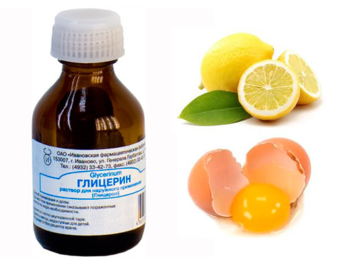 глицерин, лимон и желток