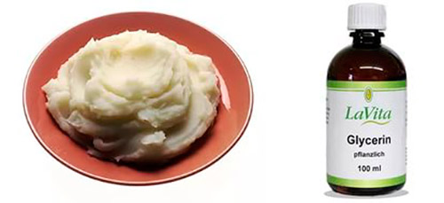 картофель и глицерин