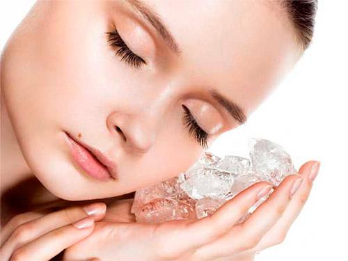 ледяной компресс для лица