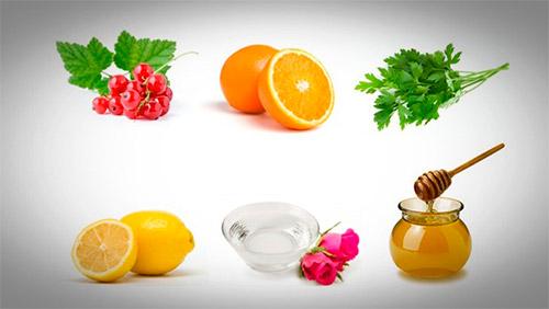 лимон, апельсин, мед, петрушка