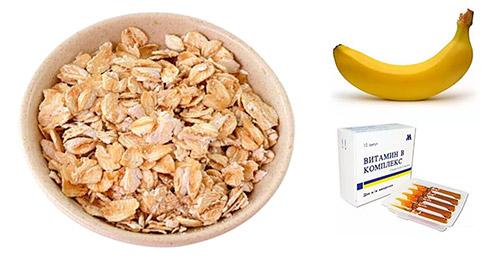 овсянка, банан, витамин С