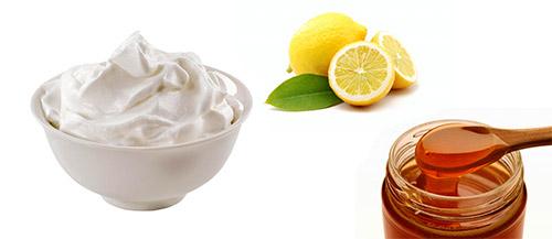 сливки, лимон, мед