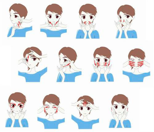 Схема японского массажа лица фото 300