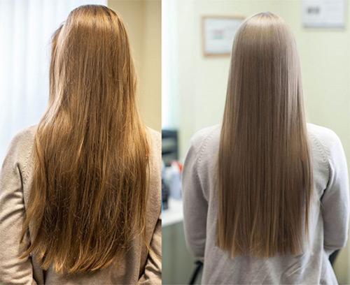 применение кератина к волосам